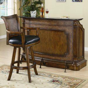 میز بار بسیار زیبا هنر تلفیق هنر کنده کاری روی چوب , منبت و معرق و خراطی و ساخت اشکال هندسی از روکش