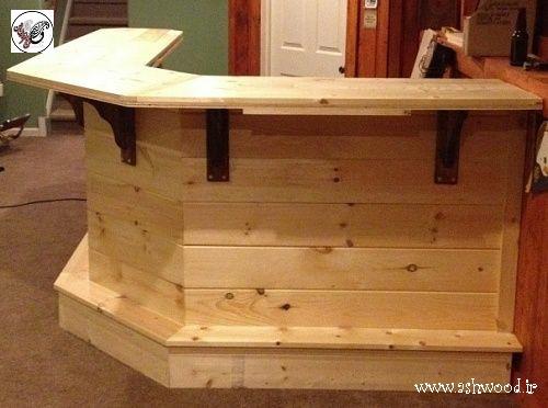 ایده میز بار چوبی , طراحی جدید برای ساخت میز چوبی , دکوراسیون میز بار