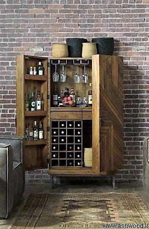 میز بار , کانتر بار چوبی , دکوراسیون بار آشپزخانه