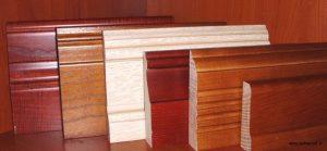 مجموعه تخته های چوبی برای قرنیز و کفپوش