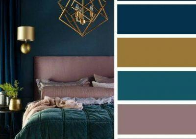 پالت رنگ , ایده ها و اصول طراحی دکوراسیون اتاق خواب