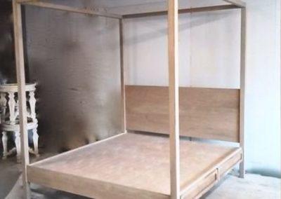 مدل کارهای تمام چوب سرویس خواب ، تخت خواب