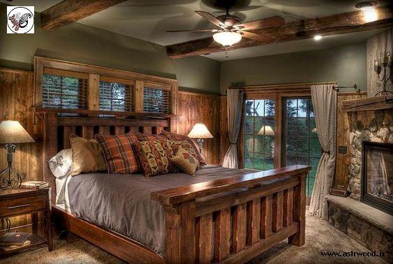 ایده هایی برای اتاق خواب روستیک , تخت خواب سبک روستیک