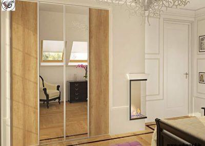 درب چوبی کمدی , درب کمدی آینه , درب کمدی ریلی
