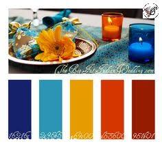ترکیب رنگی : پالت رنگ , انتخاب رنگ , رنگ آشپزخانه سفید + آبی روشن + آبی لاجوردی آشپزخانه