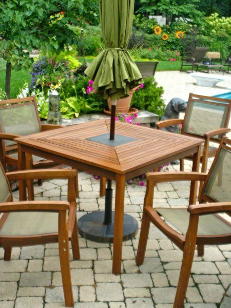میز و صندلی آلاچیق و مبلمان روف گاردن ، بار چوبی