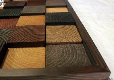 دکوراسیون چوبی لابی و ورودی شرکت تجاری بوسیله چوب کاج روسی , سبک روستیک