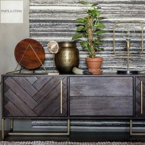 میز کنسول چوبی و بوفه : 60 مدل الهام بخش برای دکوراسیون داخلی منزل