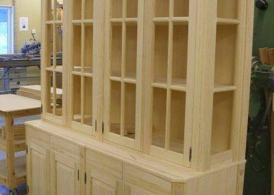 بوفه ویترین چوبی , قفسه و کمد چوبی ایستاده , کتابخانه لوکس تمام چوب