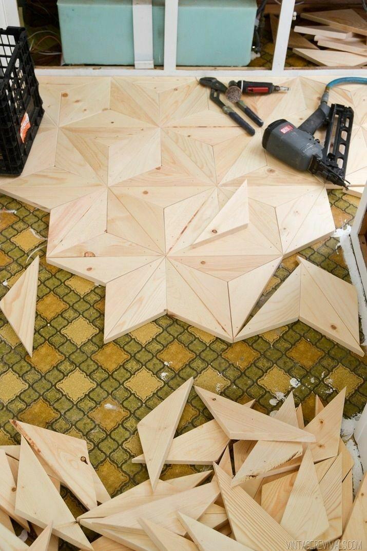 ایده کفپوش هندسی، تمام چوب، زیبا و مناسب خاص پسندان