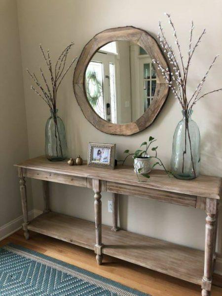 میز کنسول چوبی زیبا 2019