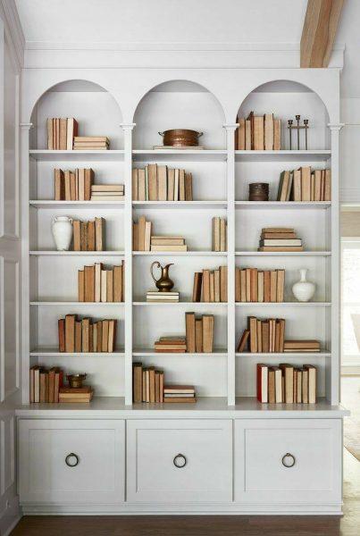 کتابخانه چوبی , قفسه چوبی