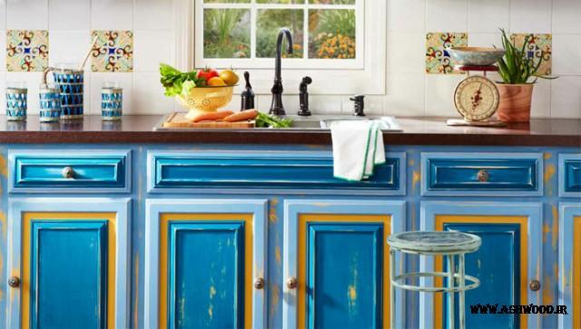 رنگ درب کابینت آشپزخانه , انتخابرنگ کابینت , رنگ کابینتجدید