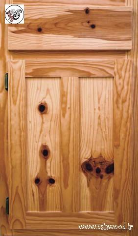 درب کابینت چوبی سبک روستیک