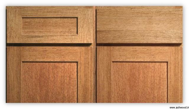 درب کابینت چوب بلوط , کابینت آشپزخانه تمام چوب کلاسیک