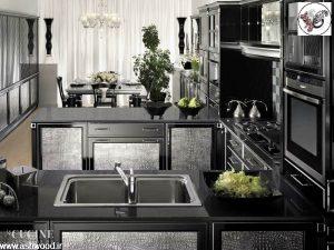ساخت کابینت آشپزخانه چوبی لوکس و کلاسیک