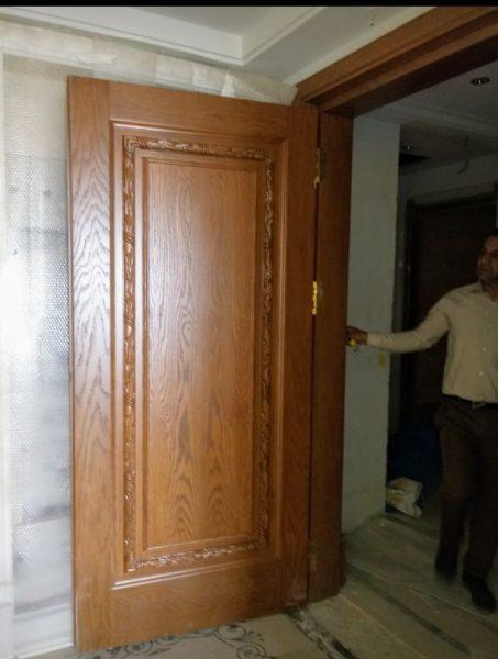 درب چوبی سبک کلاسیک