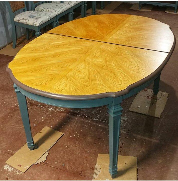 صفحه میز تمام چوب آشپزخانه و میز ناهارخوری بسیار زیبا