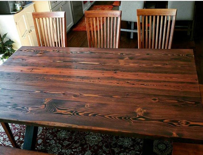 صفحه میز چوب