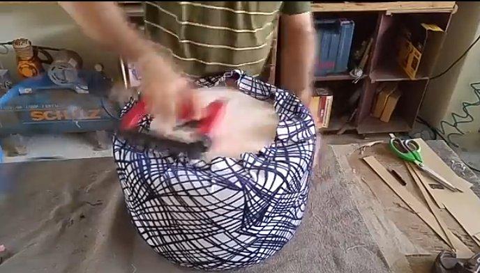 مبل پاف گرد