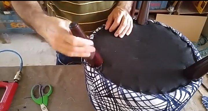 عکس پاف پایه خراطی عاجی شکل، ساخت پاف مبلمان