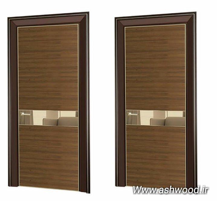 درب روکش چوب فناوری، درب مدرن موج نما، درب چوبی سبک مدرن