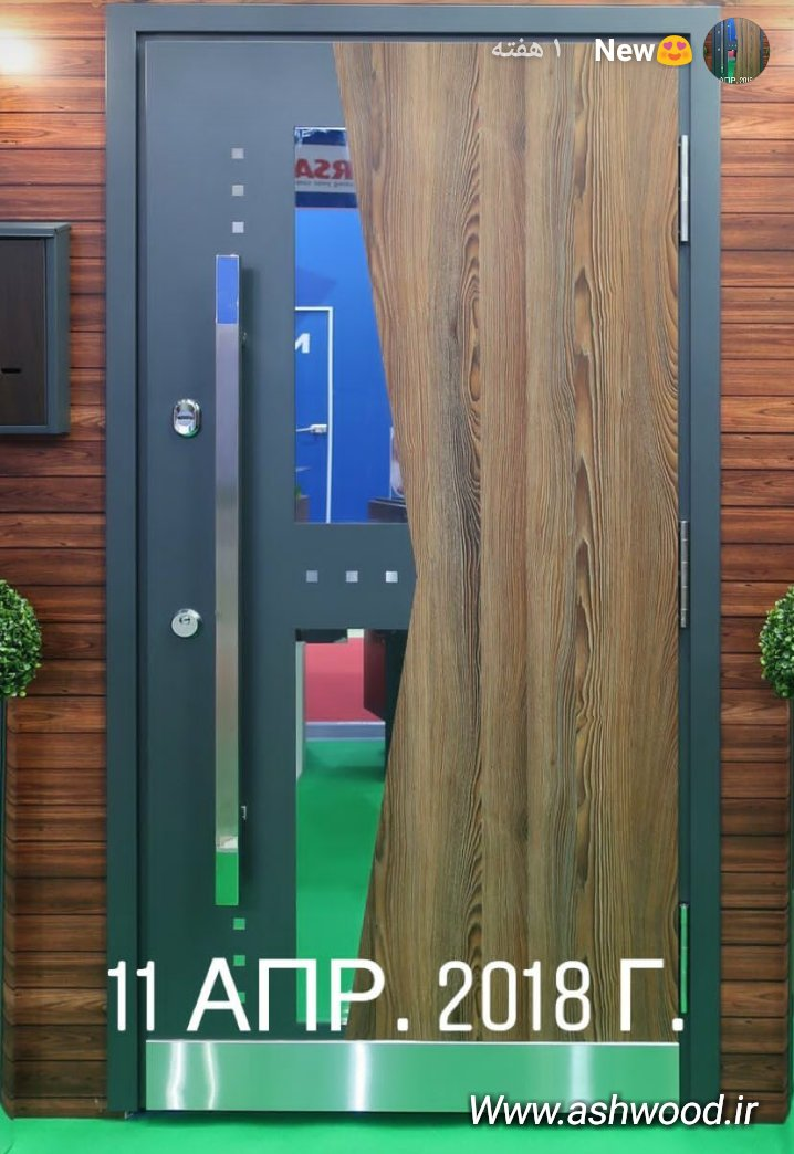 ایده چوب و فلز در ساخت درب چوبی
