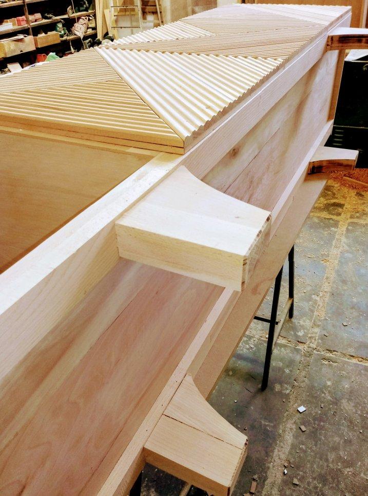 میز کنسول چوب راش
