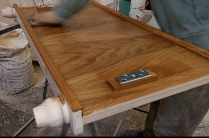 رنگ کاری چوب , سرویس اتاق خواب , سفارشی ساز , تخت خواب چوب راش