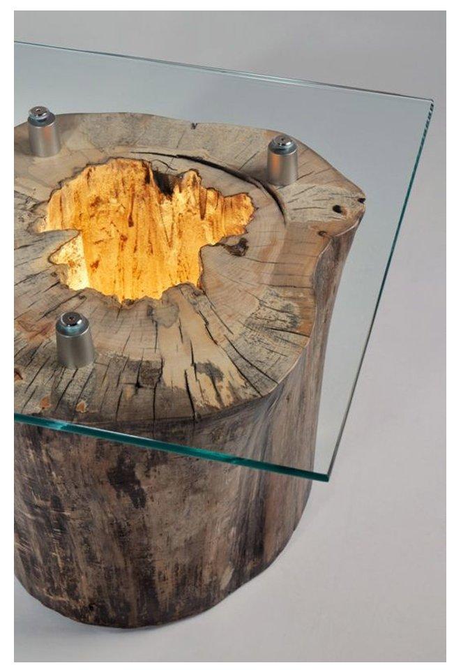 میز ساخته شده از تنه درخت