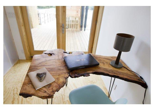 ساخت میز تحریر از یک تخته اسلب