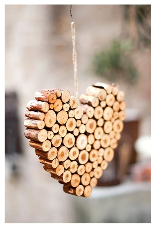 یک قلب چوبی پر از احساس