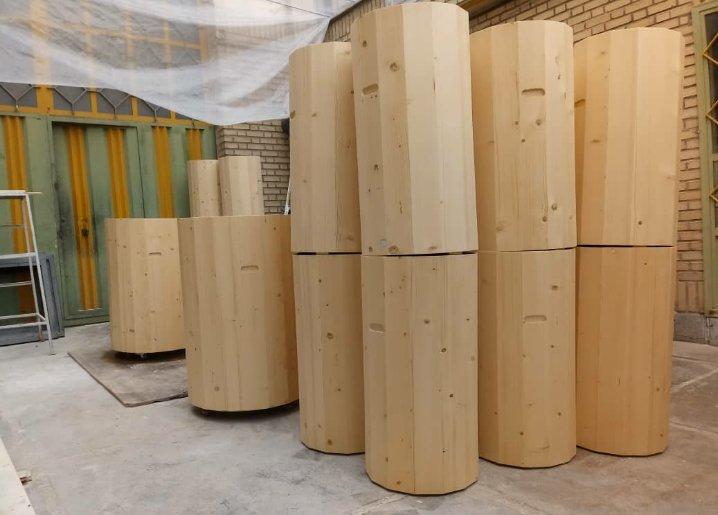 سطل چوبی , دکوراسیون آجیل فروشی