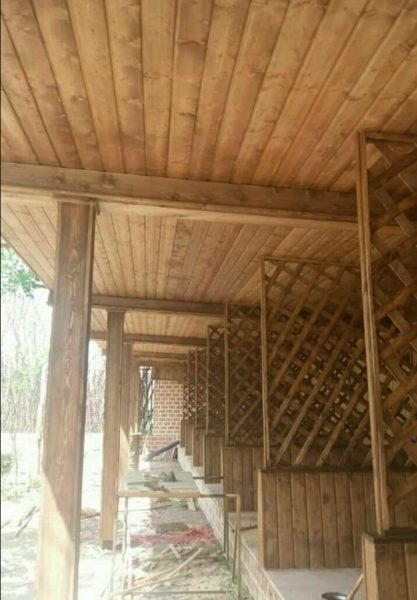 سقف کاذب چوب لمبه
