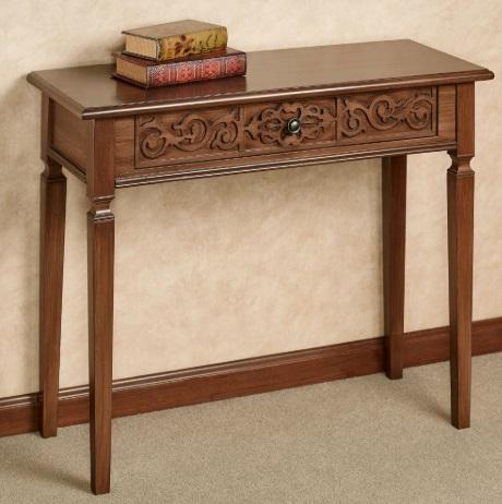 میز کنسول زیبا و دست ساز چوبی , حکاکی و منبت