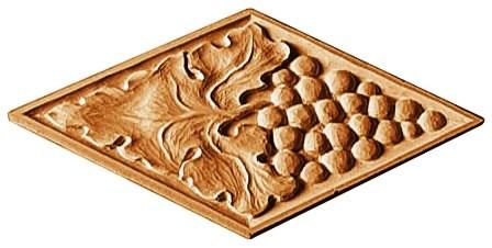 برگ مو ، انگور طرح و ایده ، الگو برای آموزش منبت روی چوب