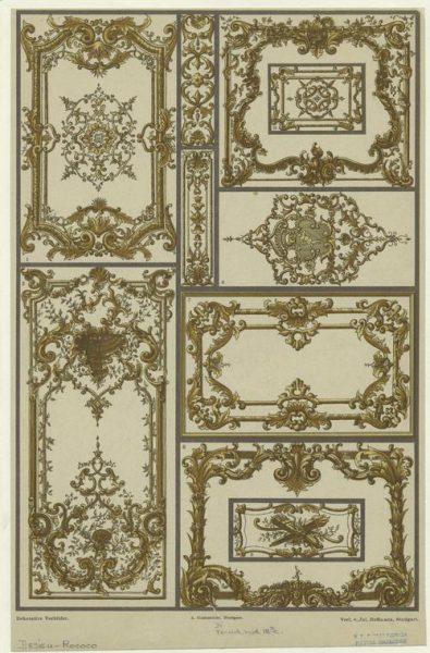 طراحی روکوو فرانسوی، قرن 18 میلادی.