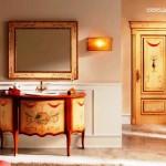 دکوراسیون کلاسیک کابینت حمام ، کمد کابینت چوبی، تمام چوب خالص . اتاژور ، قاب و آینه ، باکس