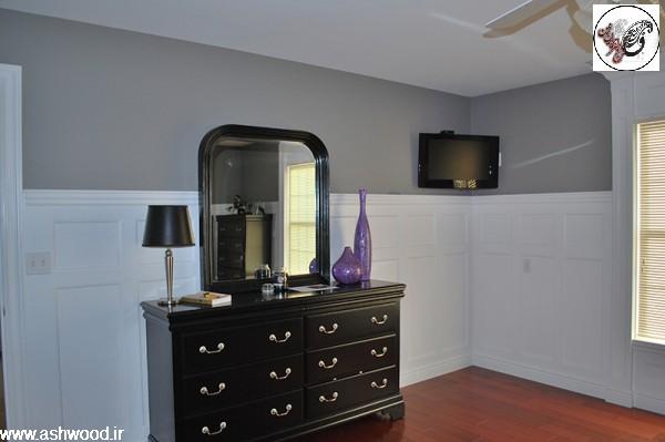 دکوراسیون داخلی سبک کلاسیک , دیوارپوش و دیوارکوب قاب تونیک سفید