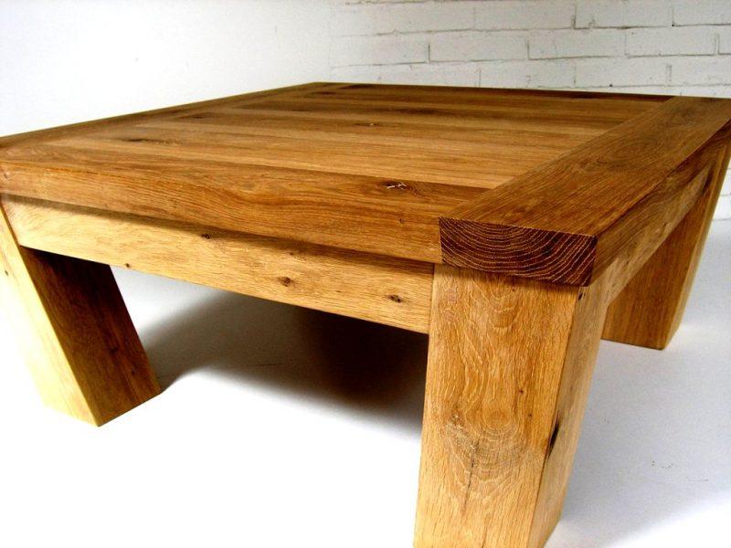 میز چوب بلوط قهوه خوری