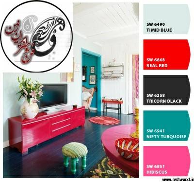 ترکیبرنگ درب ماهگونی و چهارچوب , رنگ درب