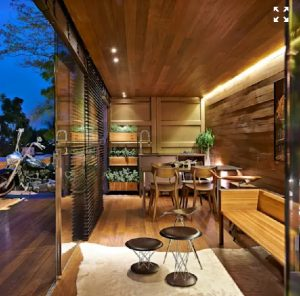 تن چوب، بافت چوب در دکوراسیون داخلی خانه چوبی
