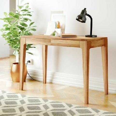 میز تحریر چوبی با تاپ کشو دار