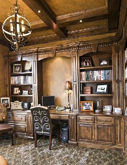 ایده های جدید کتابخانه چوبی و میز تحریر 2019 لوکس و جالب