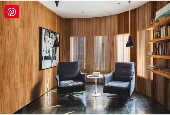 دکوراسیون اتاق نشیمن با چوب