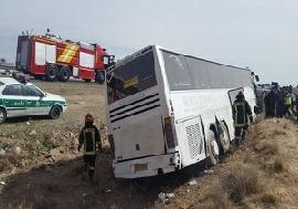 ۲۹ کشته و زخمی در حادثه تصادف اتوبوس یاسوج-تهران +اسامی