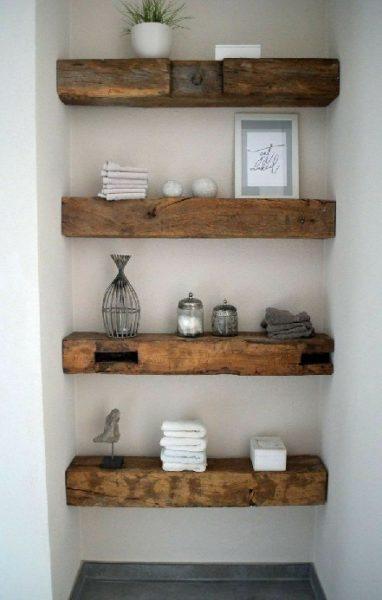 شلف و قفسه ساخته شده از تراورس چوب کاج