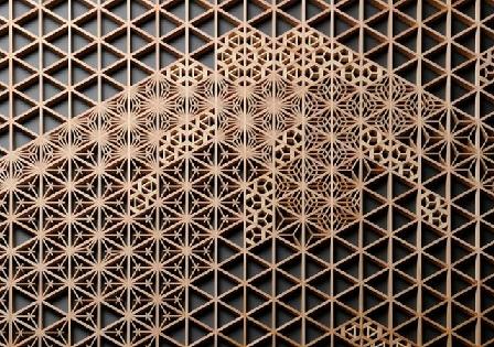 دیوارکوب چوبی هندسی، نقوش هندسی در تزیین دیوار