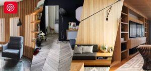 15 مدل اتاق نشیمن برتر با چوب