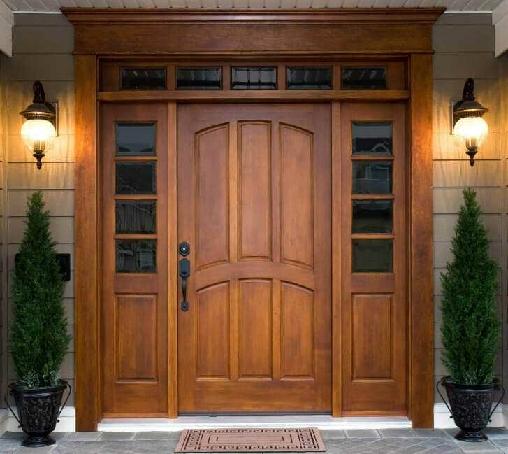 درب در فضای باز – درب تمام چوب